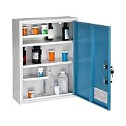 AdirMed Large Steel Medical Cabinet with Dual Key Lock, 1.16 cu. ft. (999-04-BLU)