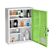 AdirMed Large Steel Medical Cabinet with Dual Key Lock, 1.16 cu. ft. (999-04-GRN)