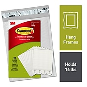 Command™ Large Picture Hanging Strips, White, 20 Pairs/Pack (17206-20NA)