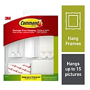 Command™ Picture Hanging Assortment Kit, White/Clear, Assorted, 50 piece (17213-ES)
