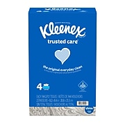 Kleenex Facial Tissue, 2-Ply, 144 Sheets/Pack, Pack of 4 (50220)