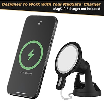 Scosche Magnetic Mount Kit for Apple iPhone 12/12 Pro, Black (MSHWDPD20-SP)