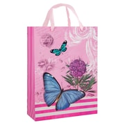 4 pack Medium Gift Bag - Pink Vintage Butterfly Gift Bags Perfect for Weddings, Birthday and Graduation Presents