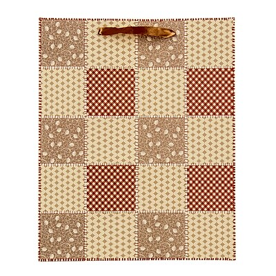 4 pack Medium Gift Bag - Honeycomb Checker Quilt Gift Bags Perfect for Weddings, Birthday and Graduation Presents