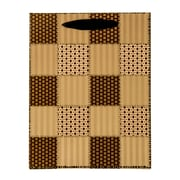 4 pack Small Gift Bag - Checker Quilt Gift Bags Perfect for Weddings, Birthday and Graduation Presents