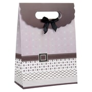 4 pack Medium Gift Bag - Mauve Buckle Bow  Gift Bags Perfect for Weddings, Birthday and Graduation Presents