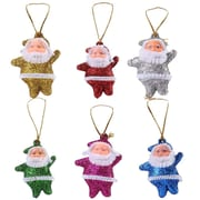 Christmas Ornaments Santa Clause 6 Pack Christmas Tree Decorations