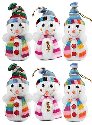 Christmas Ornaments Snowman 6 Pack Christmas Tree Decorations
