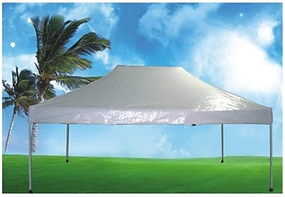 Pool Central 10' x 15' White Outdoor Garden Party Denver Folding Canopy Gazebo (31567281)