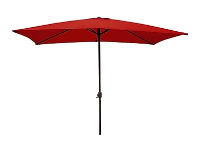 LB International 8.5' Outdoor Patio Market Umbrella with Hand Crank - Red (32206385)