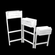 "Darice 27.25"" Decorative White 3 Tier Hinged Wooden Garden Planter Stand (32038149)"