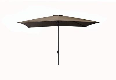 LB International 8.5' Outdoor Patio Market Umbrella with Hand Crank - Dark Beige (32206386)