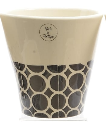 Kaemingk Basic Luxury Handmade White and Black Circles on Bottom Flower Pot Planter 6