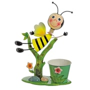 """Select Artificial 17"""" Bee Flying Over Flowers Decorative Spring Outdoor Garden Planter (32021270)"""