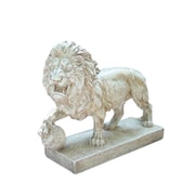 "Northlight 10.5"" Weathered Finish Ferocious Lion Outdoor Patio Garden Statue (32230498)"