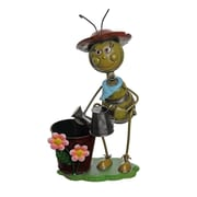 "Select Artificial 13.5"" Vintage Bee With Watering Can Decorative Spring Outdoor Garden Planter (32021272)"