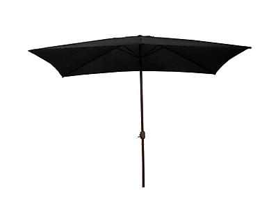 LB International 8.5' Outdoor Patio Market Umbrella with Hand Crank - Black (32206382)