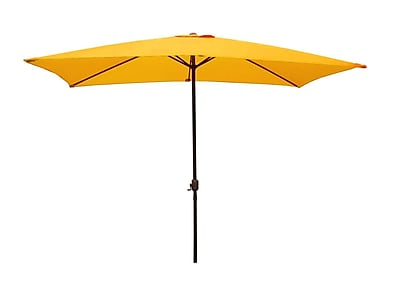 LB International 8.5' Outdoor Patio Market Umbrella with Hand Crank - Yellow (32206384)