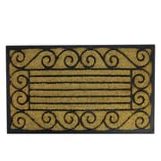"Northlight Decorative Black Rubber and Coir Outdoor Rectangular Door Mat 29.5"" x 17.75"" (32041035)"