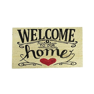 Northlight Welcome to Our Home Decorative Coir Outdoor Rectangular Door Mat 30