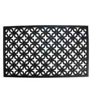 """Northlight Decorative Black Rubber Outdoor Rectangular Door Mat 29.5"""" x 17.75"""" (32039570)"""