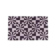 "Northlight Decorative Black and Pale Pink Abstract Coir Outdoor Rectangular Door Mat 29.5"" x 17.75"" (32041465)"