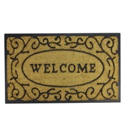 "Northlight Decorative ""Welcome"" Rubber and Coir Outdoor Rectangular Door Mat 29.5"" x 18"" (32041055)"