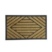 "Northlight Decorative Black Rubber and Coir Outdoor Rectangular Door Mat 29.5"" x 17.5"" (32041023)"