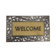 "Northlight Decorative ""Welcome"" Rubber and Coir Outdoor Rectangular Door Mat 30"" x 18"" (32041014)"