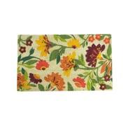 "Northlight Decorative Multi-Color Spring Floral Coir Outdoor Rectangular Door Mat 29.75"" x 17.75"" (32041473)"