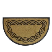 "Northlight Decorative Black Rubber and Coir Outdoor Half Round Door Mat 29.5"" x 17.5"" (32041062)"