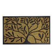 "Northlight Decorative Black Rubber and Coir Outdoor Rectangular Door Mat 29.5"" x 17.75"" (32041030)"