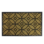 "Northlight Decorative Black Rubber and Coir Outdoor Rectangular Door Mat 30"" x 18"" (32041026)"