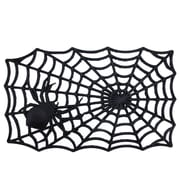 "Northlight Decorative Black Spider Web Outdoor Rubber Halloween Door Mat 29"" x 17.75"" (32039551)"