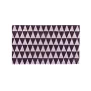 "Northlight Decorative Black and Pale Pink Triangle Print Coir Outdoor Rectangular Door Mat 29.5"" x 17.75"" (32041464)"