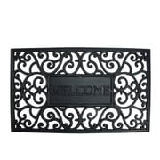"Northlight Decorative Black ""Welcome"" Outdoor Rubber Rectangular Door Mat 29.5"" x 17.75"" (32039558)"
