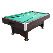Pool Central 7' x 3.96' Brown and Green Billiard and Pool Game Table (32283687)