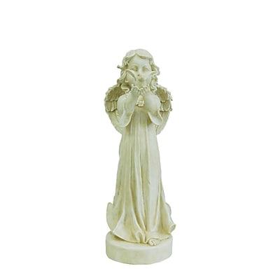 """Northlight 23.75"""" Smiling Angel Releasing a Bird Outdoor Patio Garden Statue (32231740)"""