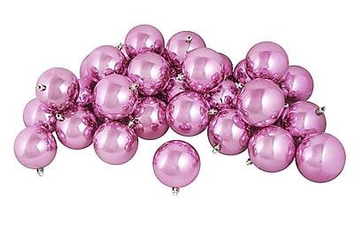 Northlight 12ct Shiny Bubblegum Pink Shatterproof Christmas Ball Ornaments 4