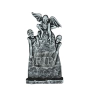 "Northlight 29.5"" Gray and Black Lighted Gothic Tombstone with Skeletons Indoor/Outdoor Halloween Decoration (32255978)"