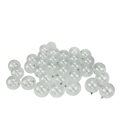 Northlight 32ct Clear Shatterproof Christmas Ball Ornaments 3.25