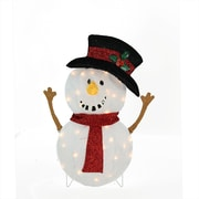 "Product Works 24"" Candy Cane Lane Lighted Smiling Snowman Christmas Yard Art Decoration (32277512)"