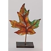 "Roman 14"" Multi-Colored Autumn Harvest Maple Leaf Decorative Votive Candle Holder (31752666)"