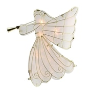 """Sienna 10.5"""" Lighted Gold Scroll Angel with Trumpet Christmas Tree Topper - Clear Lights (31740194)"""
