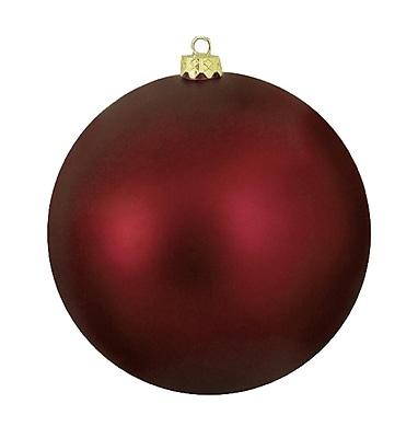 Northlight Matte Burgundy Commercial Shatterproof Christmas Ball Ornament 10