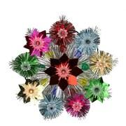 "Northlight 8.5"" Lighted Tinsel Starburst Star Christmas Tree Topper - Multi-Color Lights (31576648)"