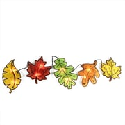 """Northlight 49"""" Autumn Yellow Red Green and Orange Leaves Window Silhouette Garland Decoration (32263143)"""