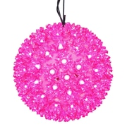 "Vickerman 6"" Pink LED Lighted Starlight Hanging Sphere Christmas Ball Decoration (31758994)"