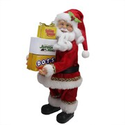 """Northlight 12"""" Santa Claus Carrying Boxes of Dots Junior Mints and Sugar Daddy Decoration (31735872)"""
