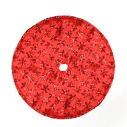 "Northlight 20"" Decorative Red Sequin Snowflake Pattern Mini Christmas Tree Skirt (32230538)"